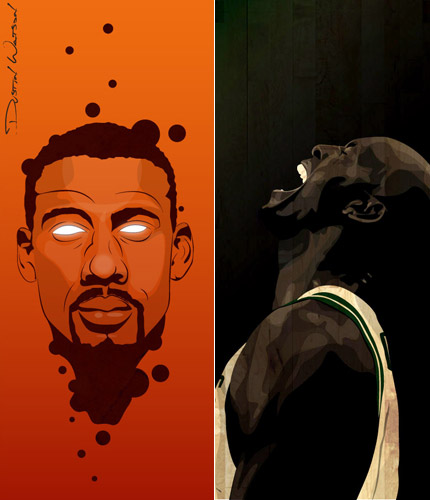 Amare Stoudemire and Kevin Garnett
