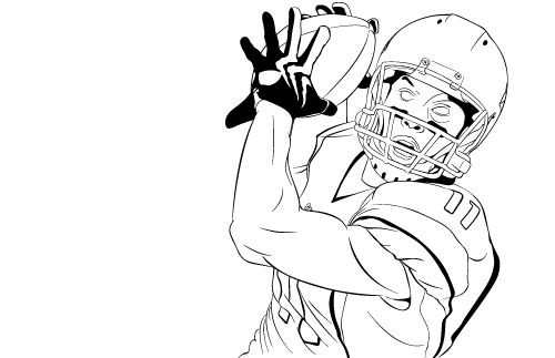 wide receiver football coloring pages - photo#10