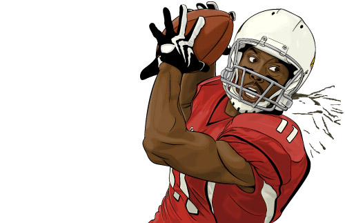 wide receiver football coloring pages - photo#33