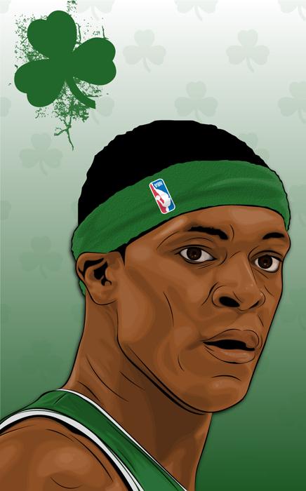 Boston Celtic PG Rajon Rondo