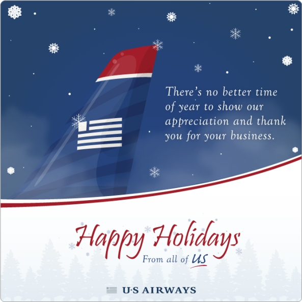 US Airways Holiday Card