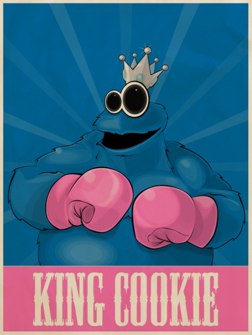 Cookie Monster/King Hippo mash-up