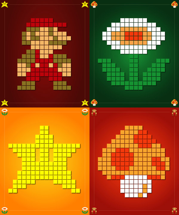 Super Mario Bros. poster series
