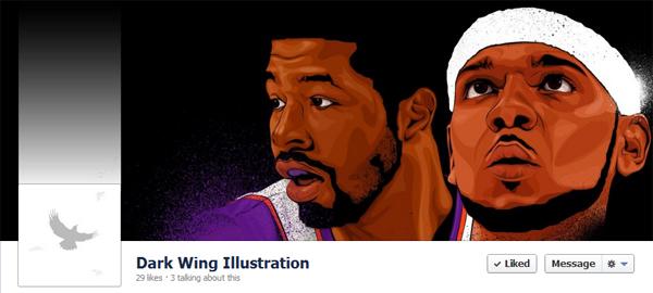 Dark Wing Illustration Facebook