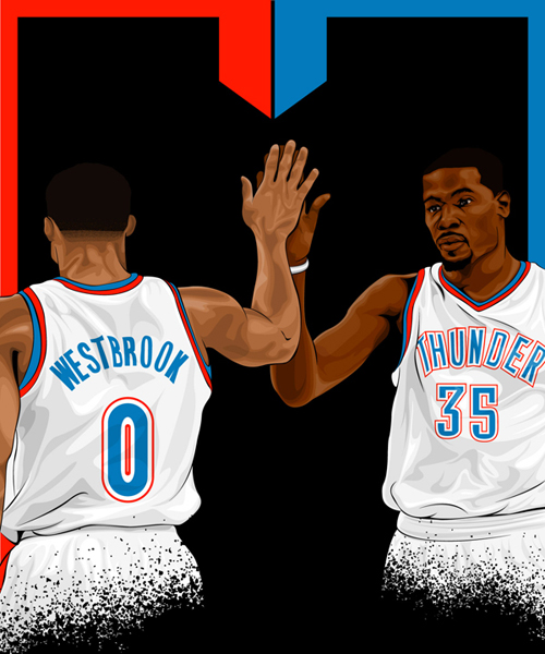 Russell Westbrook // Kevin Durant - Oklahoma City Thunder