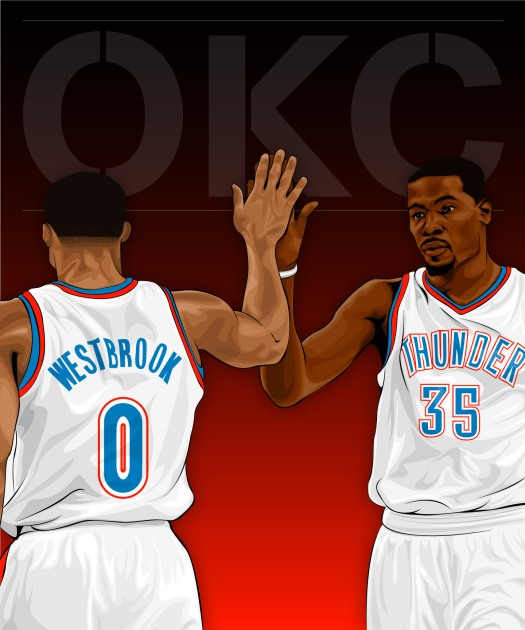 Kevin Durant and Russell Westbrook: Oklahoma City Thunder