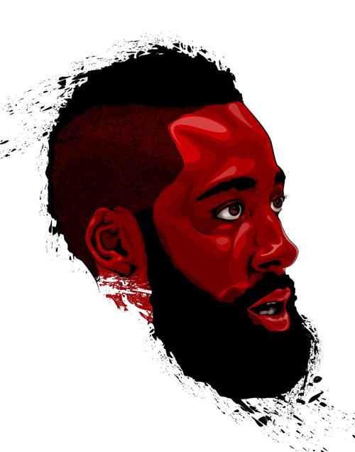 James harden fear the beard logo - photo#18