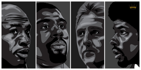 Kings of the NBA: Michael Jordan, Magic Johnson, Larry Bird and Julius Erving
