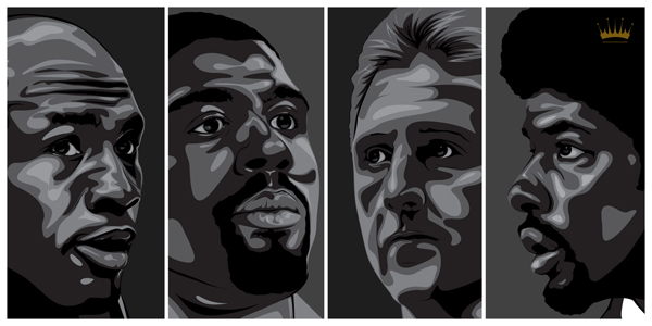 Kings of the NBA: Michael Jordan, Magic Johnson, Larry Bird and Julius Erving